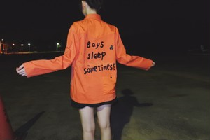 (8) Remake orange functionable jacket