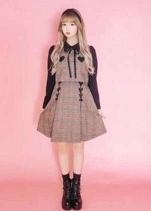 【ManonMimie】Heart Check Dress