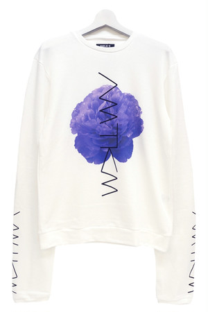 「牡丹/Peony」 Long Sleeve Sweat White