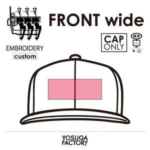 YOSUGA FACTORY『FRONT wide』custom【CAP ONLY】
