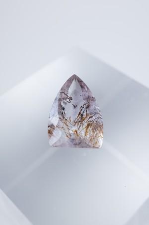 Goethite in Amethyst Faceted - 026