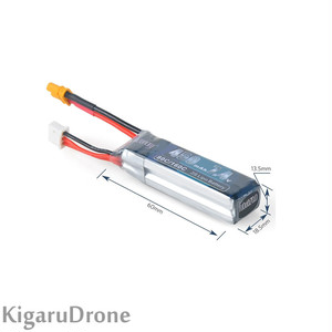 【2S 450mAh Lipo】【SALE】Crazepony 450mAh 2S 7.4V LiPo Battery Pack 80C with XT30コネクター