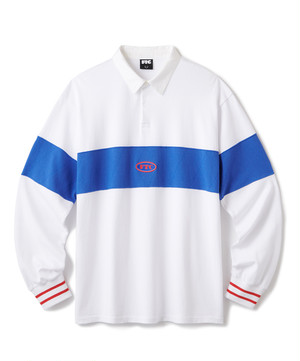 FTC / PANEL RUGBY SHIRT -WHITE-