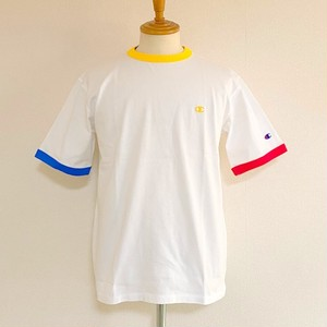 Ringer Short Sleeve T-shirts White × Yellow