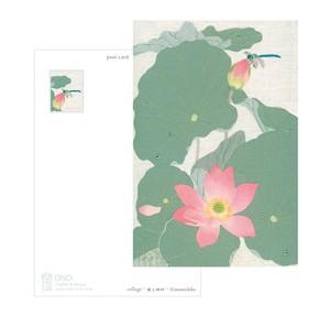 コラージュポストカード 夏の花3種