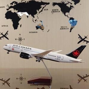 送料無料 エアカナダ 模型飛行機 LED点灯 1/130 スタンド付