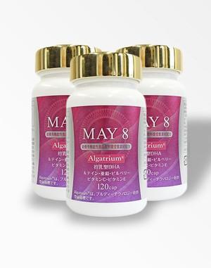 <送料無料>3個セット 高含有DHA MAY8 アルガトリウムサプリメント