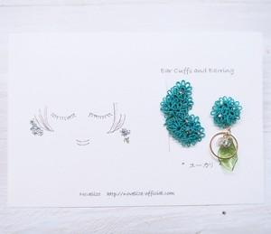 【botanical:ユーカリ】セット (イヤーカフ&イヤリングorピアス)