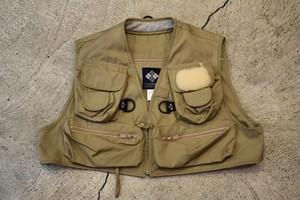 USED Columbia Fishing Vest L 90s V0190
