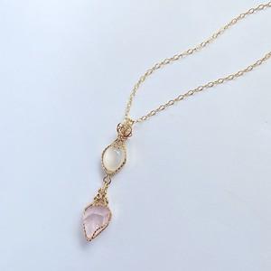 Moonstone&Rose quartz Wire jewelry