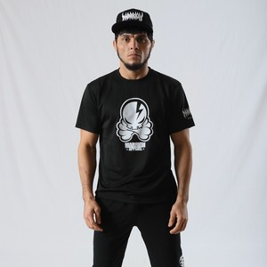 【Cotton100%】OCTOPUS SKULL Tee (Black)