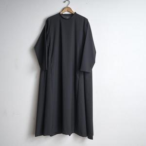 mochi モチ super120's ウール 台形ドレス ブラック trapeze dress