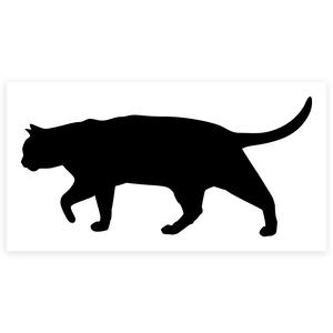 猫のシルエット カッティングシート 黒色