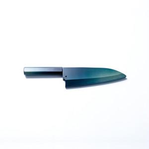 【藍包丁】出刃(右)18cm・専用カバー付き