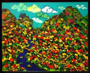 油彩画*秋の山* 2013