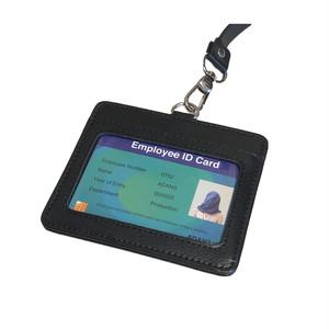 LEATHER ID CARD CASE / BLACK