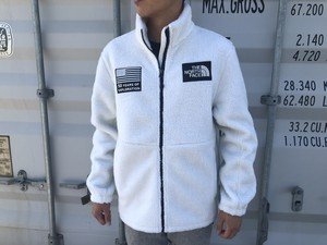 "【海外買付アイテム】THE NORTH FACE ""50YEARS OF EXPLORATION"" FLEECE ZIP JKT (white)"