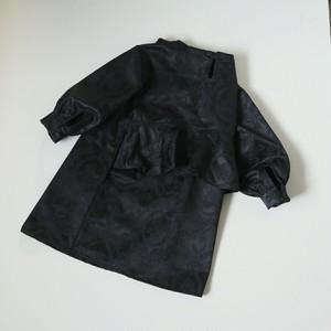 バックフリル ワンピース ☆ 黒 (120-130)