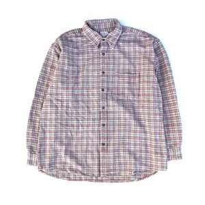 USED 90's J.crew check shirts - beige