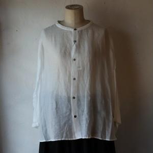 30%OFF【prit (プリット) 】160/1ラミー9分袖 スタンドカラービッグシャツ 82981