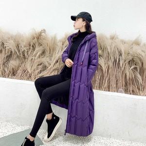 【送料無料】アウター ダウンジャケット 中綿 ダウン ロング丈 クール かっこいい 防寒 冬 フード付き キルティング ゆったり 体型カバー