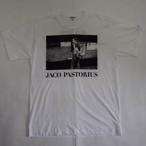 「JACO PASTORIUS」ver.1ジャズTシャツ(写真家・内山繁氏コラボ) WATERFALLオリジナル  S/ M/ L