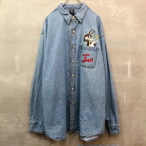 ワイリー・コヨーテ デニム刺繍 長袖シャツ  #944