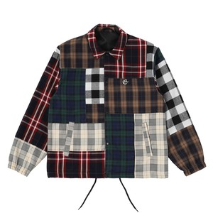 EXAMPLE OE LOGO PATCH PATCHWORK COACH JACKET / MULTI