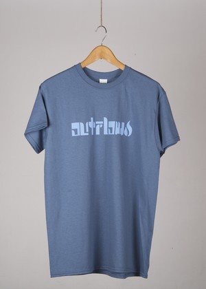 OUTFLOW - ORIGINAL Logo  T-shirt    Indigo / Light blue