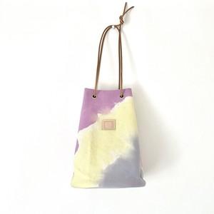 手染めの帆布ハトメバッグ / palette