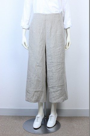 【限定SALE 50%OFF】Wide Pants Belgium Linen for Ladies 品番:47108 col.30 Ecru