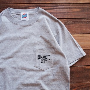 "【DARGO】""KUMAMOTO CITY"" Pocket T-shirt (GRAY)"