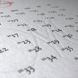 Letterpress Xmas Calendar
