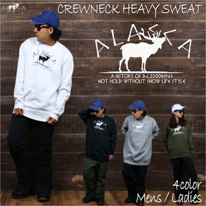 CREWNECK HEAVY SWEAT ALASCA moose as-33