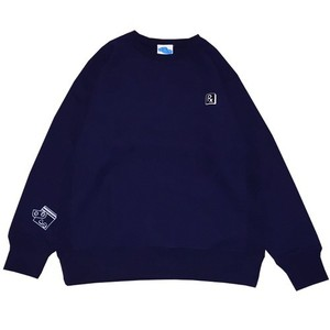 【SLEEPING TABLET】PRETEND [ CREWSWEAT ]NAVY