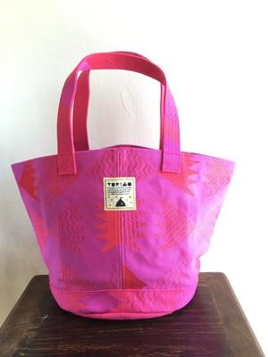 RYUSUI刺繍マルシェBAG Purple×Red Mサイズ