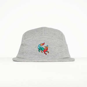 by Parra - 5 panel volley hat confused fox (Heather grey)