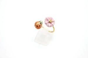 有田焼フォークリング てんとう虫×花 1