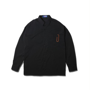 OVER SIZE BIG CLIP SHIRTS / BLACK