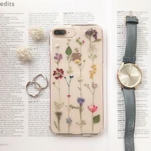 iPhonexsmax対応♡ボタニカルデザイン♡押し花iPhoneケース