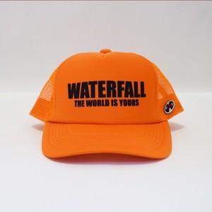 ロゴメッシュキャップ(レコードワッペン) オレンジ F ユニセックス WATERFALL コラボ商品