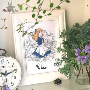 不思議の国のアリス☆ポストカード(ホワイト)