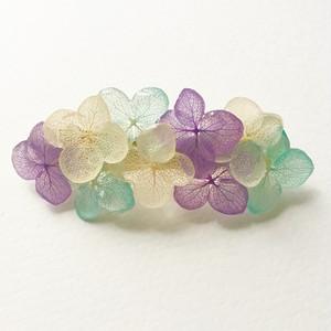 紫陽花のバレッタ*ブルーバイオレット*