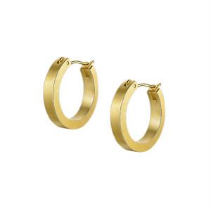 matte gold hoop pierce S