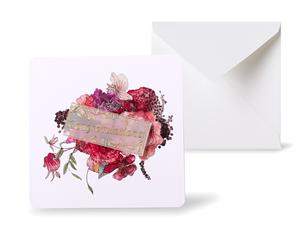 12種類のスクエアグリーティングカード 《Autumn Bouquet オータム・ブーケ》