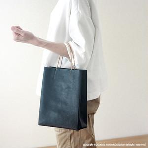 [新色]紙袋っぽい革袋 S・ネイビー[受注生産品]