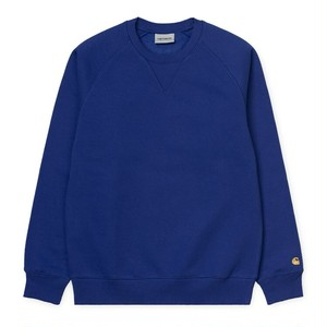 Carhartt (カーハート)Chase Sweatshirt Thunder Blue / Gold