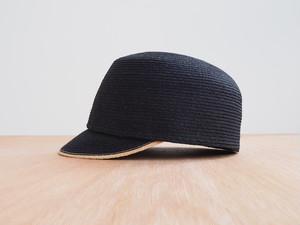 Raffia Cap - black × natural