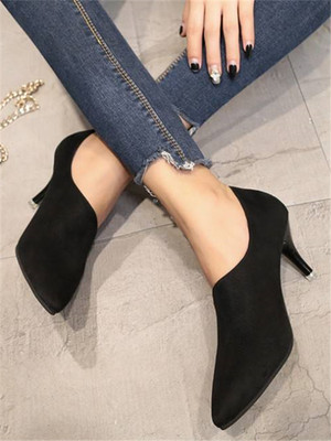 【shoes】New stiletto pointed single shoes