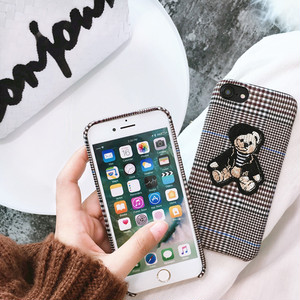 【お取り寄せ商品】Check bear iphone case 6575